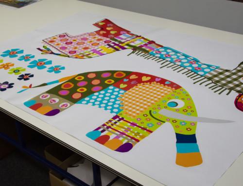 Raamstickers (6) vorm gesneden, girafe, olifant