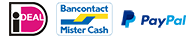 ideal, bancontact, mister cash, paypal