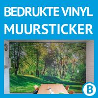Muursticker op maat, bedrukte vinyl