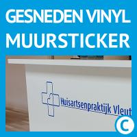 Muursticker op maat, gesneden vinyl, plakfolie, plakletters