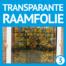Transparant bedrukte transparante folie op maat