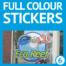 Full colour bedrukte raamfolie