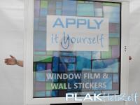 Geperforeerde raamfolie (7), hoe niet te gebruiken, licht achtergrond, lichte binnenkant