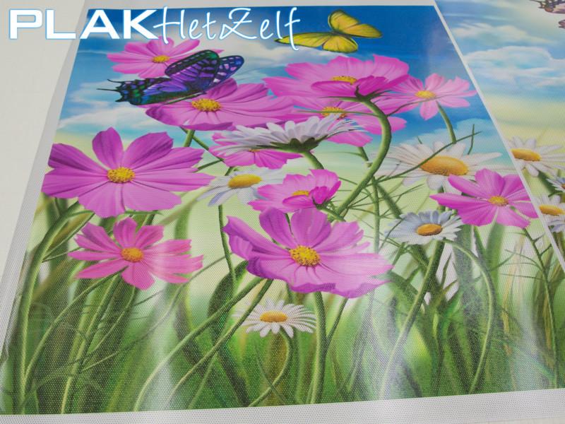 One way vision (7), grote foto, bloemen, anti-inkijk, gedeeltelijke privacy