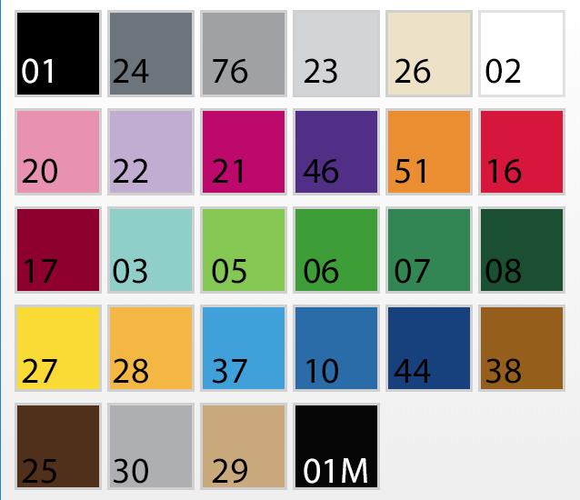 Kleuren kaart vinyl