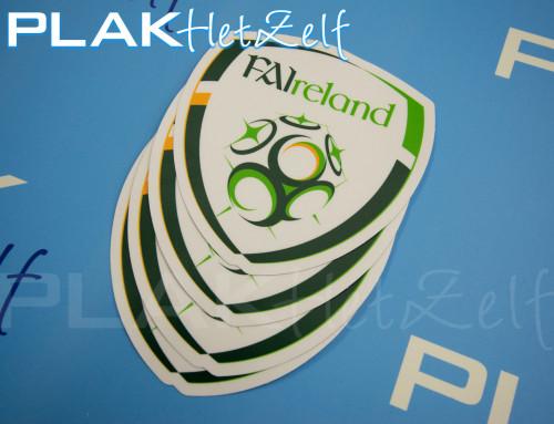 Sticker, maken, printen, logo, vorm gesneden, mat, S10M