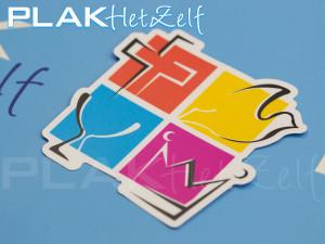 sticker, vorm gesneden, complex, logo, mat, S10M