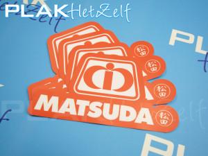 stickers, bestellen, laten drukken, reclame campagne, mat, S10M