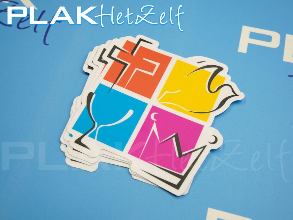 stickers, laten, drukken, die-cut, complex, logo, mat, S10M