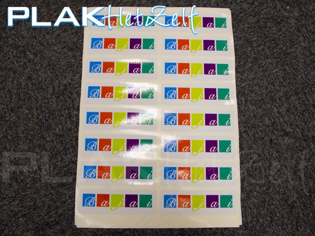 vinyl sticker, laten drukken, ronde hoeken, stickers op vel, S11G