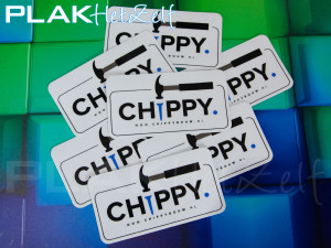 vinyl sticker, laten printen, ronde hoeken, los gesneden, S11G