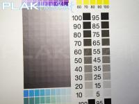 Muursticker, vinyl met textiel texture/motief, A3, CMYK, grijswaarden