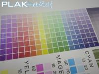 Muursticker, vinyl met textiel texture/motief, A3, kleuren