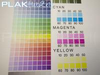 Muursticker, vinyl met textiel texture/motief, A3, CMYK, kleuren